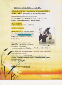 Image of the Karl Grignon Sensei flyer