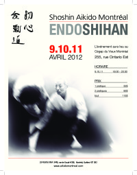 Image of the Endo Shihan flyer