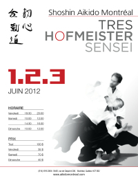 Image of the Tres Hofmeister Sensei flyer