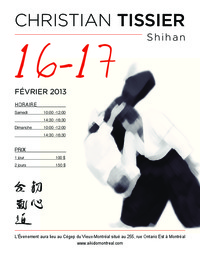 Image of the Christian Tissier Shihan flyer